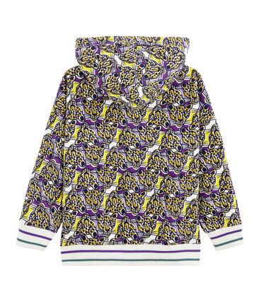 Sweat shirt zippé enfant garçon blanc Marshmallow / blanc Multico