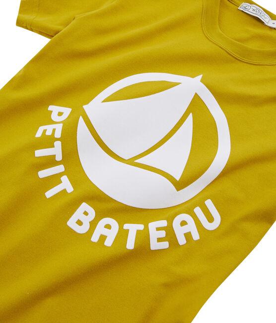 Tee-shirt logo femme jaune Bamboo