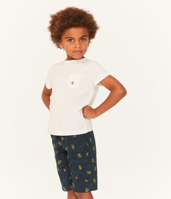 Tee-shirt à manches courtes enfant garçon blanc Marshmallow