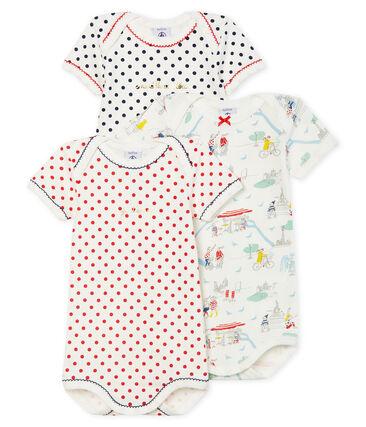Trio de bodies manches courtes bébé fille