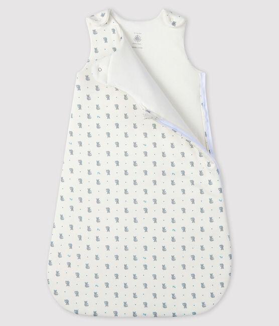 Gigoteuse bébé en côte blanc Marshmallow / gris Gris