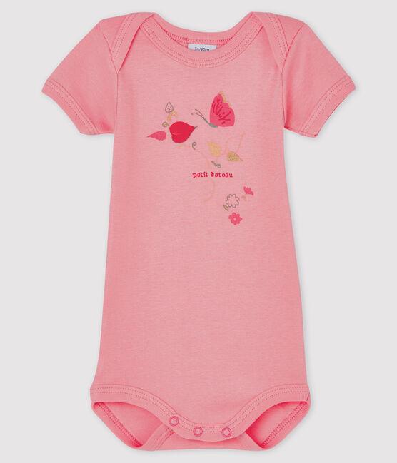 Body manches courtes bébé fille rose Gretel