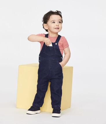 Salopette longue effet denim bébé mixte bleu Jean