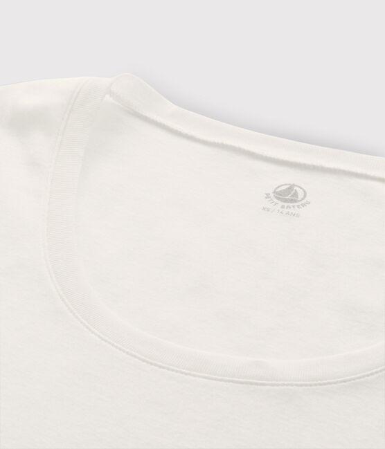 T-shirt léger côte légère Femme blanc Marshmallow