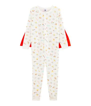 Combinaison déguisement petit garçon blanc Marshmallow / blanc Multico