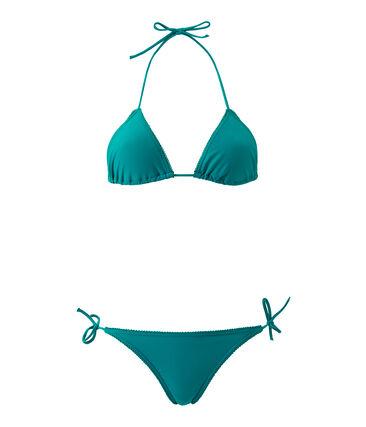 Maillot de bain femme 2 pièces uni vert Verde