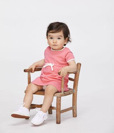 Robe body manches courtes bébé fille rose Cupcake
