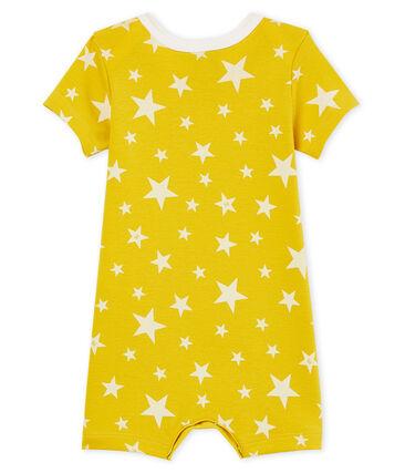 Combicourt bébé garçon en côte jaune Honey / blanc Marshmallow Cn
