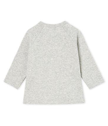 Tee shirt manches longues bébé fille gris Beluga Chine