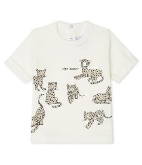Tee-shirt manches courtes bébé garçon blanc Marshmallow