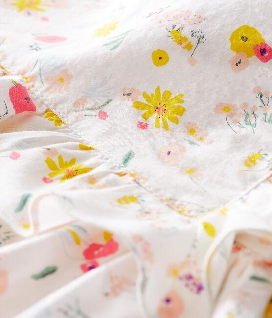 Robe manches courtes imprimée bébé fille blanc Marshmallow / blanc Multico