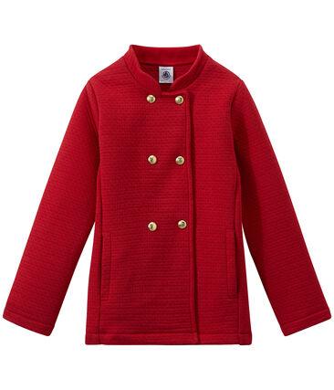 Manteau fille en tubique matelassé