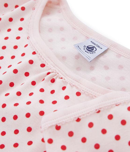 Chemise de nuit petite fille en côte rose Fleur / rose Impatience