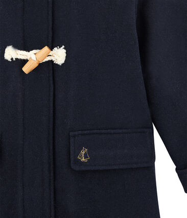 Duffle coat enfant fille bleu Smoking