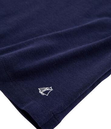 Tee-shirt enfant fille bleu Smoking