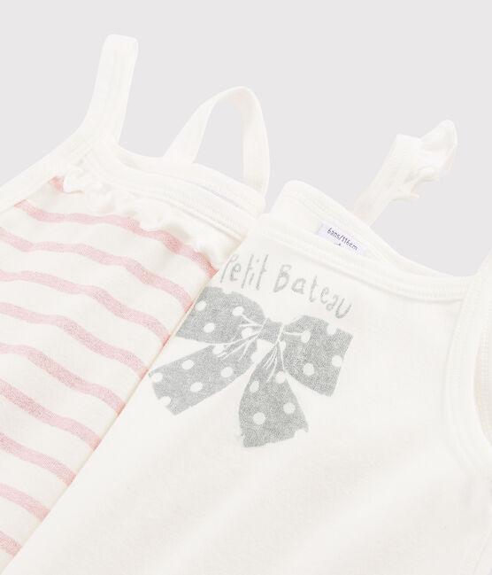 Lot de 2 chemises à bretelles à paillettes petite fille lot .
