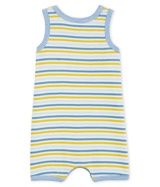Combicourt bébé garçon en côte bleu Alaska / blanc Multico