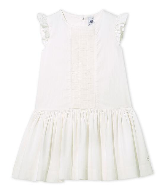 Robe de cérémonie fille blanc Lait