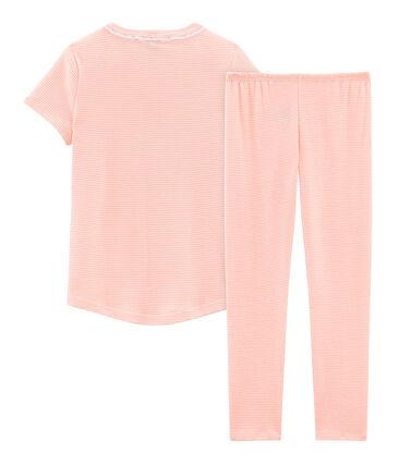 Pyjama à manches courtes petite fille en côte