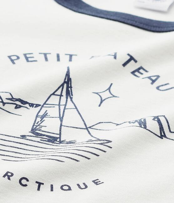 Pyjama garçon sérigraphié bleu Smoking / blanc Lait