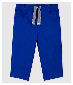 Pantalon en serge craquante bébé garçon bleu Surf