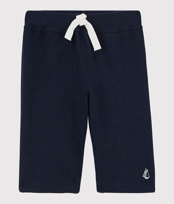 Bermuda en jersey enfant garçon bleu Smoking