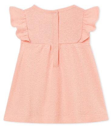 Blouse manches courtes bébé fille en coton/lin