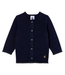 Cardigan essentiel bébé fille en tricot laine et coton