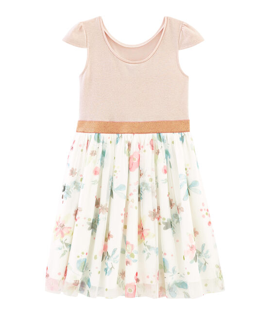 Robe enfant fille rose Pearl / blanc Multico