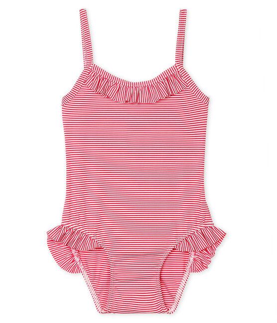 Maillot de bain UPF 50+ bébé fille rose Geisha / blanc Marshmallow