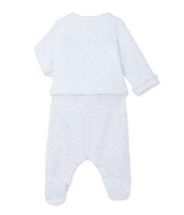 Ensemble bébé cardigan et dors bien blanc Ecume