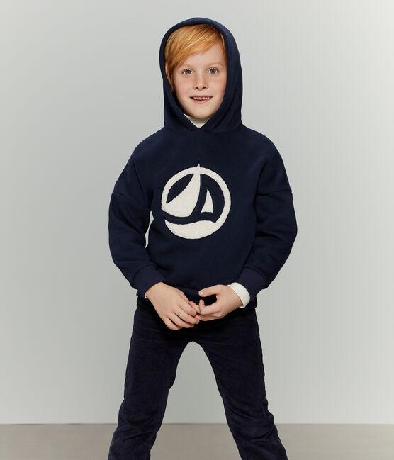 Sweatshirt enfant mixte bleu Smoking