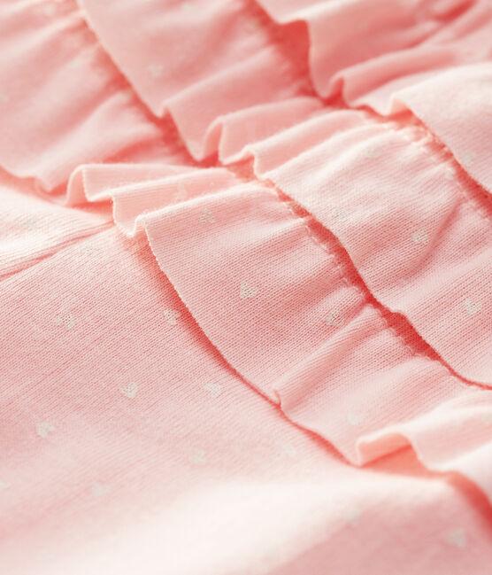 Legging imprimé bébé fille rose Minois / blanc Marshmallow