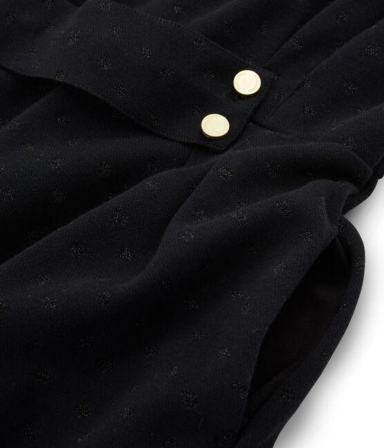Robe ajustée manches longues femme noir Noir / noir Lurex Noir