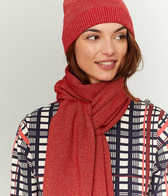 Echarpe brillante femme rouge Terkuit / rouge Terkuit Brillant