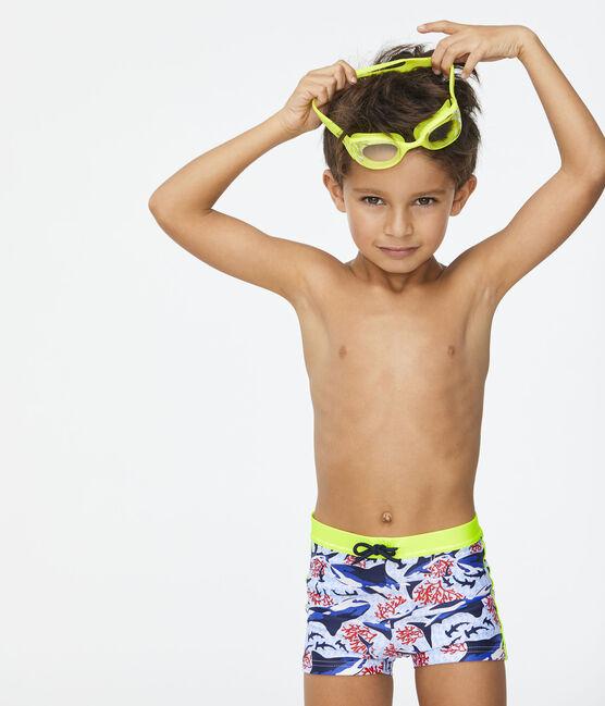 Maillot de bain écoresponsable enfant garçon blanc Marshmallow / blanc Multico