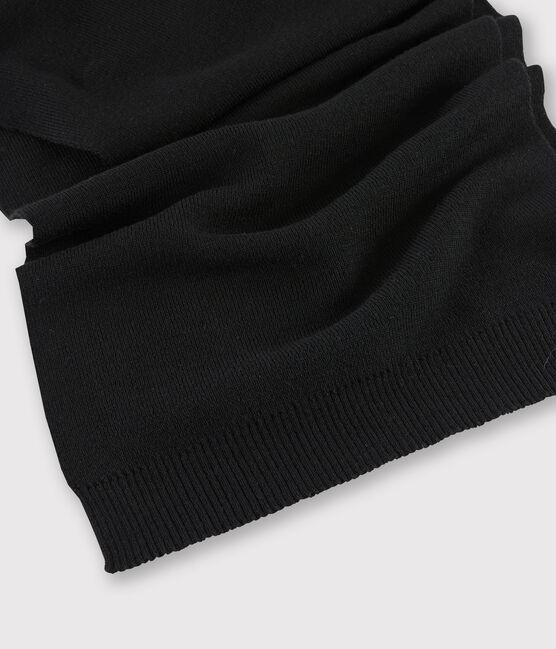 Echarpe en laine Femme noir Noir