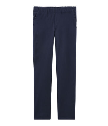 Pantalon femme bleu Smoking