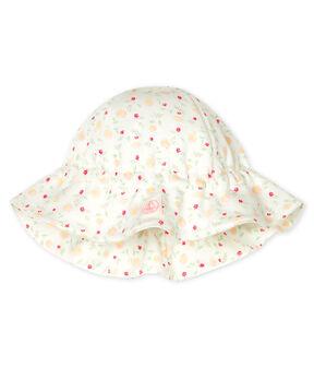 Chapeau bébé en côte blanc Marshmallow / blanc Multico