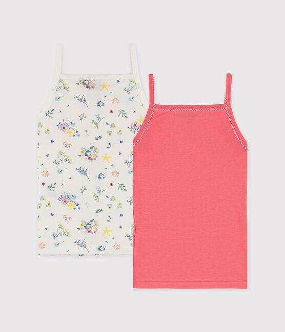 Lot de chemises à bretelles petite fille imprimé fleuri lot .