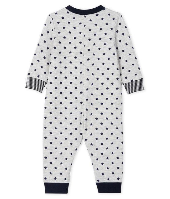 Combinaison longue zippée bébé garçon gris Beluga / bleu Smoking