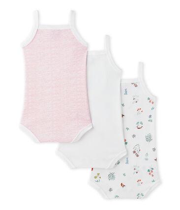 Lot de 3 bodies bébé fille à bretelles
