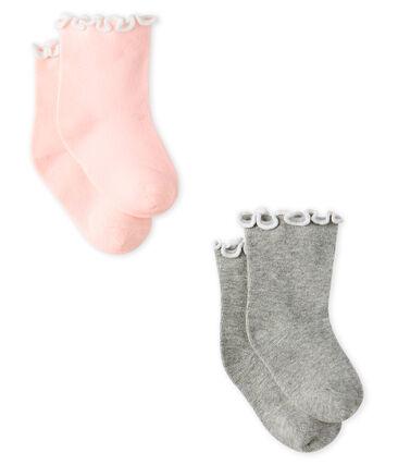Lot de 2 paires de chaussettes mi-basses bébé fille