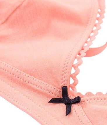 Soutien-gorge femme en jersey extrafin rose Rosako