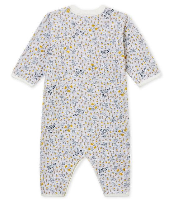 Dors bien sans pieds bébé fille en côte gris Poussiere / blanc Multico
