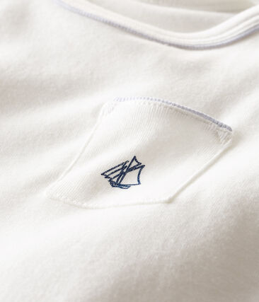 Tee shirt manches courtes bébé garçon blanc Marshmallow Cn