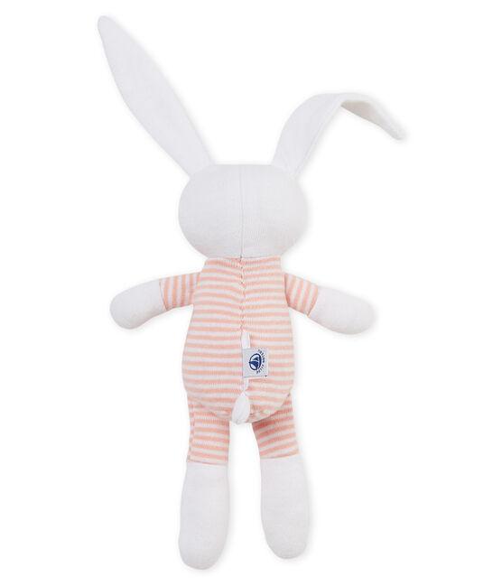 Doudou lapin bébé en jersey rose Rosako / blanc Marshmallow