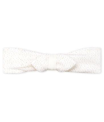 Bandeau bébé fille en tulle blanc Marshmallow / rose Copper