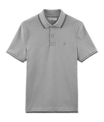 Polo manches courtes 100% coton jersey piqué. gris Subway