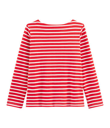 Marinière femme rouge Peps / blanc Marshmallow